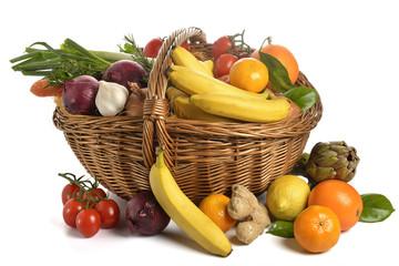 cesto ortaggi e frutta