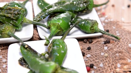 Fresh Pimientos (loopable Full HD Video file)