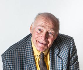 happy smiling elderly man