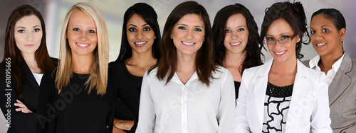 Leinwanddruck Bild Businesswomen