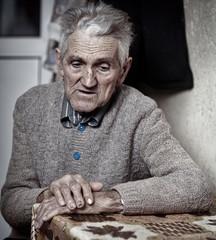 Old man closeup
