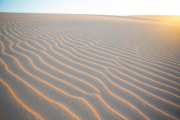 Sand wave texture in desert of Colombia