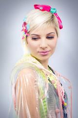 Colorful fashion model