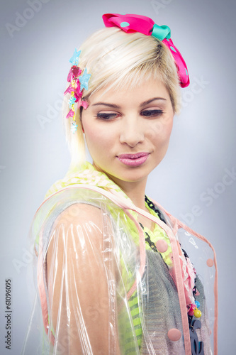 Colorful fashion model