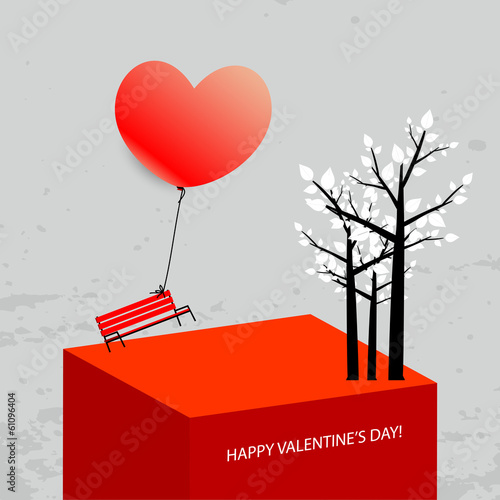 Valentines day card, background