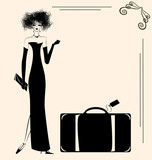 lady and suitcase