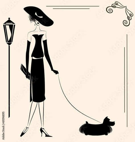 lady and dog