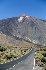 Scenery in Teide National Park in Tenerife, Spain