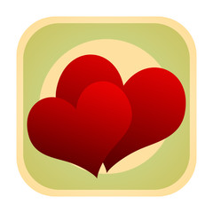 Valentine hearts retro icon