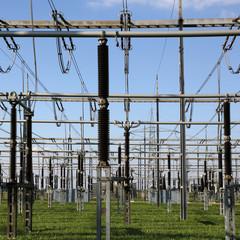 Umspannwerk für elektrischen Strom Thema Energie und Elektrizit