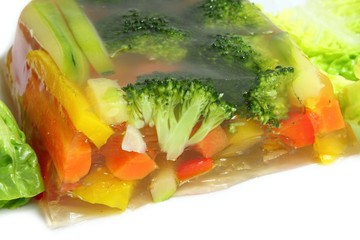 Vegetables in aspic
