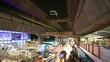 Bangkok downtown busy traffic, time lapse at night