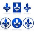Quebec fleur-de-lys