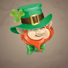 St Patrick's Day Leprechaun Face.