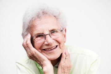 Happy senior woman portrait.