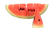 Sliced ripe watermelon isolated