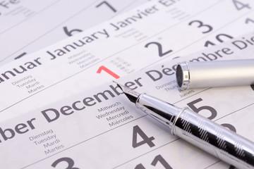 Füller mit Kalender