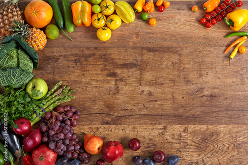 Canvas Koken Healthy eating background