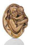 Virgin Mary holding baby Jesus wall statue