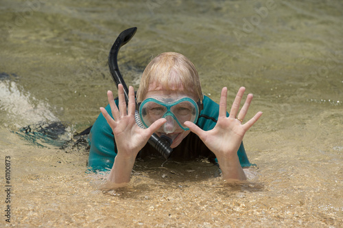 Woman Snorkeling on Vacation