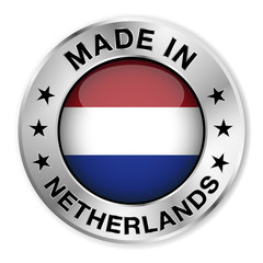 Made In Netherlands Silver Badge