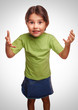baby little girl proving family relationships swears emotions pr