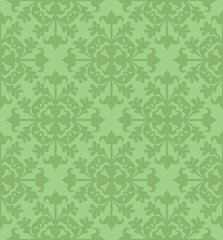 Seamless Clover Damask Pattern