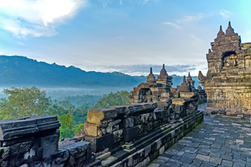 Mountain views from Borobudur Temple