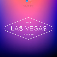 World Cities labels - Las Vegas, vector Eps10 illustration.