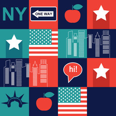 square New York pattern