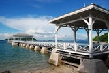 Waterfront pavilion of Seechang Island, Chonburi, Thailand