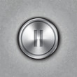 Vector round metal pause button