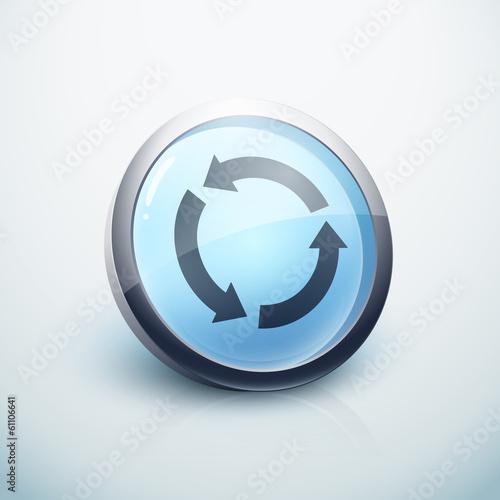 icône bouton internet recyclage