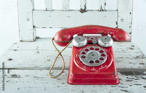 Red toy telephone - 61106648