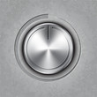 Vector round metal volume button