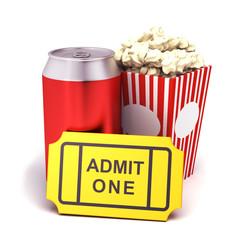 Soda , and popcorn