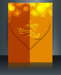 Card for valentine's day brochure template reflection colorful d