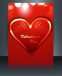 Brochure template card for valentine's day background illustrati