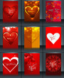 Valentine's day brochure background template collection presenta