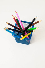 New Colored Pencils in the Box Container