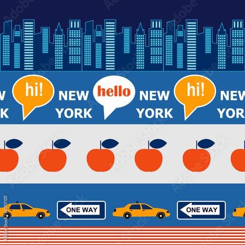 hello New York pattern - 61107011