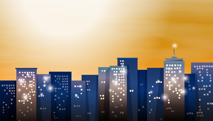 A view of the bright city