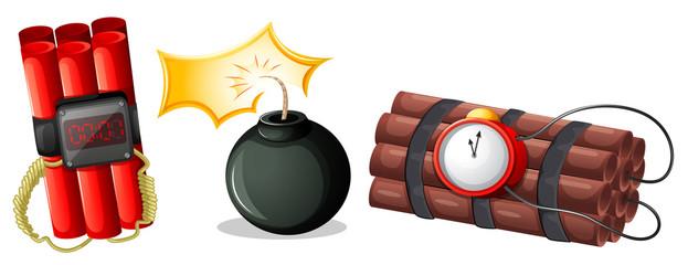 Explosive bombs