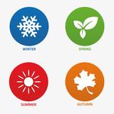 Fototapety Vector illustration of seasons
