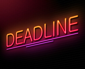 Deadline concept.