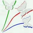 three butterfly