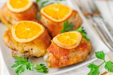 Roast Chicken with Oranges