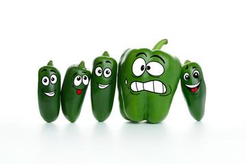 Fat and slim pepper