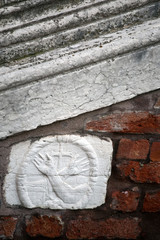 old Christian bas-relief