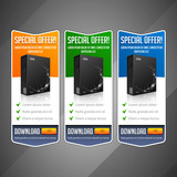 Modern Special Offer Web Banner Set Vector Colored